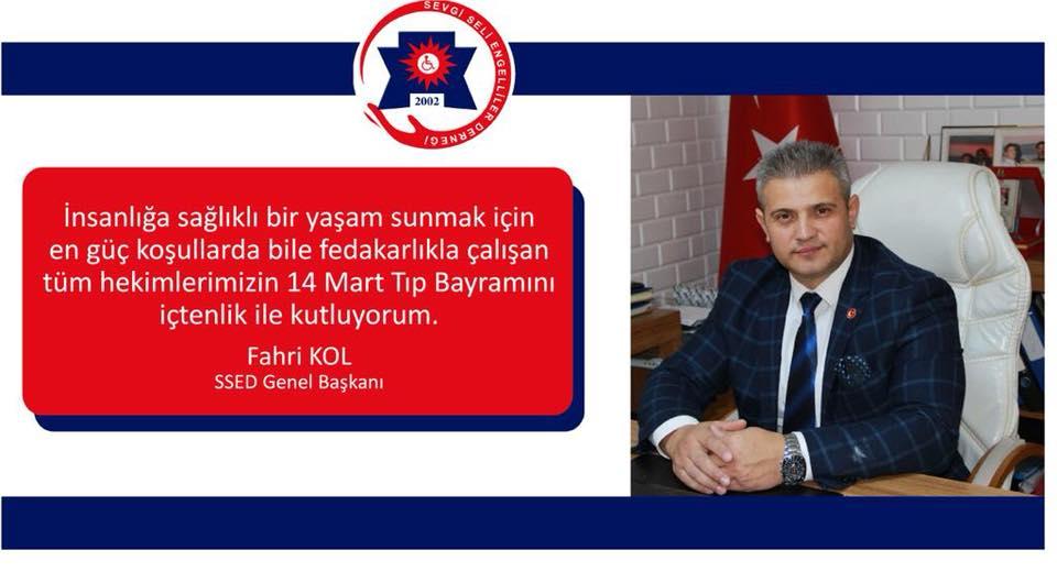 Genel Başkanımız Sn. Fahri KOL dan 14 Mart Tıp Bayramı Mesajı