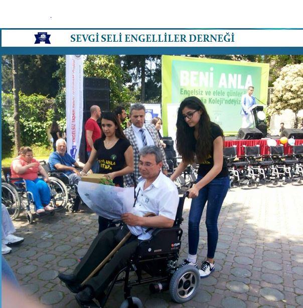 Doğa Koleji ile Ortak Projemizde,Tekerlekli Sandelye Dağıtım Töreni,